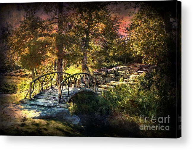 Tulsa Acrylic Print featuring the photograph Woddard Park Bridge II by Tamyra Ayles