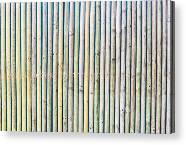 Background Acrylic Print featuring the photograph Wooden Poles by Tom Gowanlock