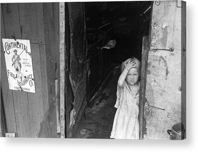 1938 Acrylic Print featuring the photograph Wpa Young Girl, 1938 by Granger
