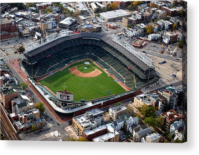 Chicago Cubs Acrylic Print featuring the photograph Wrigley Field Chicago Sports 02 by Thomas Woolworth