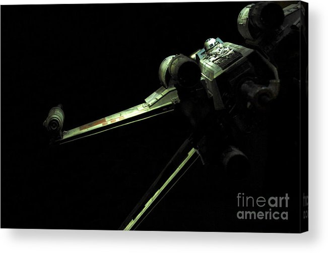 X-wing Acrylic Print featuring the photograph X-wing Fighter by Micah May