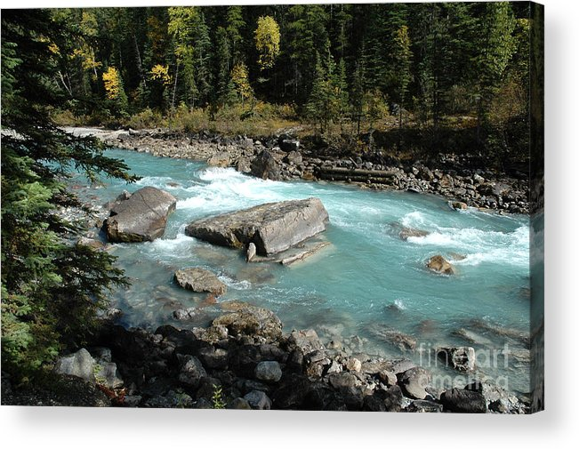 River Acrylic Print featuring the photograph Yoho River by Bob and Nancy Kendrick