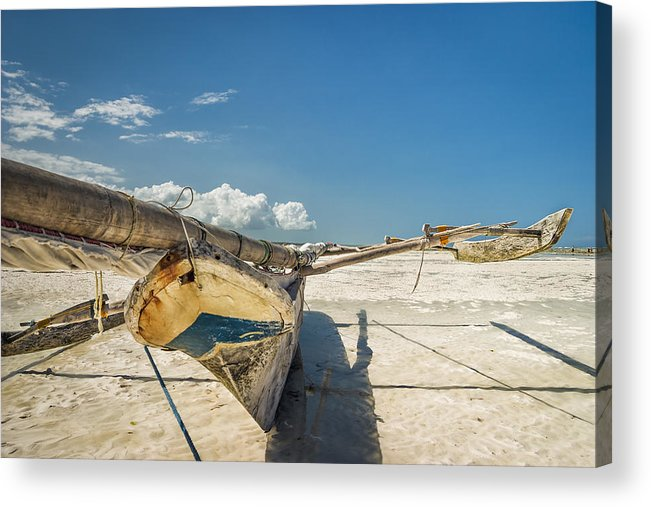 3scape Acrylic Print featuring the photograph Zanzibar Outrigger by Adam Romanowicz