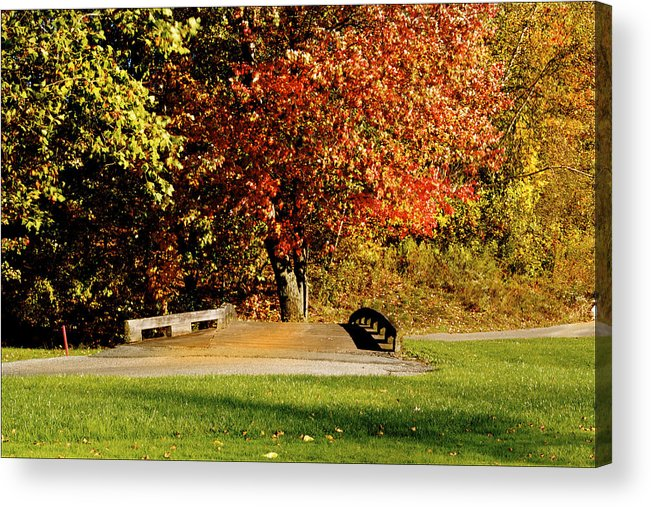 Autumn Colors Acrylic Print featuring the photograph  Autumn Colors by Heinz G Mielke