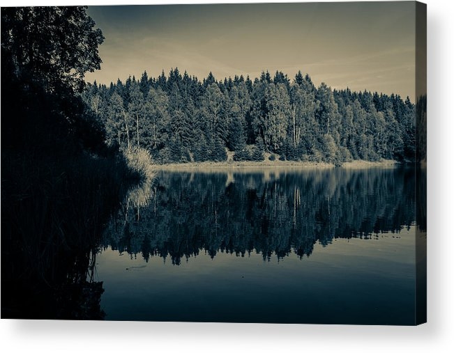 Clausthal-zellerfeld Acrylic Print featuring the photograph Unterer Kellerhalsteich by Andreas Levi