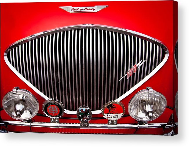 55 Acrylic Print featuring the photograph 1955 Austin Healey 100-4 by David Patterson