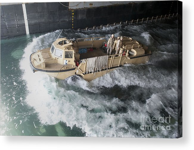 Warship Acrylic Print featuring the photograph A Lighter Amphibious Re-supply Cargo by Stocktrek Images