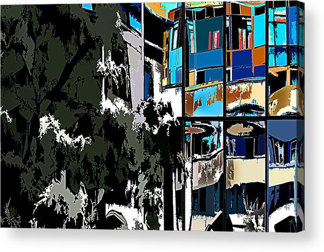 Abstract Acrylic Print featuring the photograph Abstract 24 by Burney Lieberman