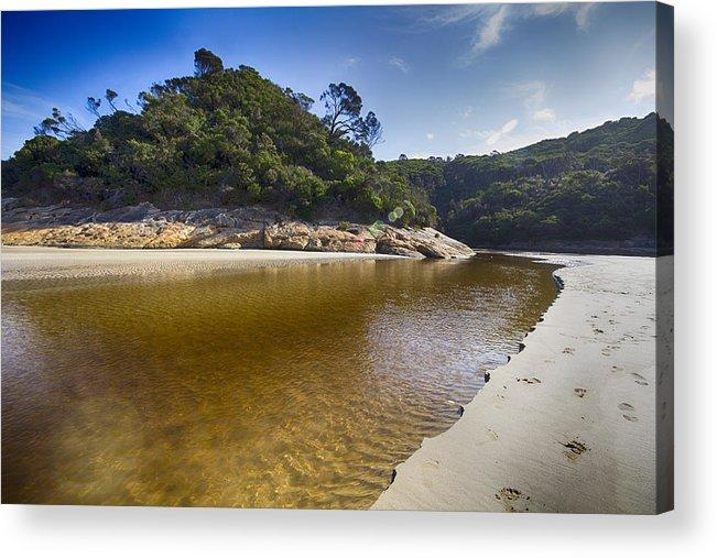 Tidal River Acrylic Print featuring the photograph Beach Erosion by Douglas Barnard