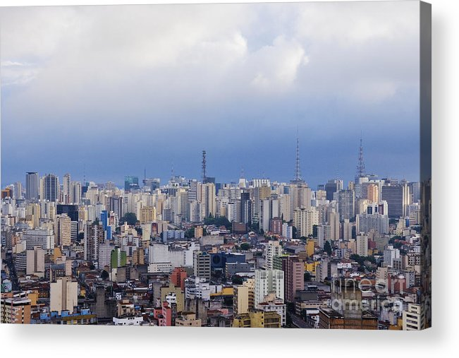 Apartment Acrylic Print featuring the photograph Buildings Of Downtown Sao Paulo by Jeremy Woodhouse