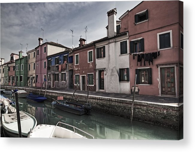 Architecture Acrylic Print featuring the photograph Burano - Venice - Italy by Joana Kruse