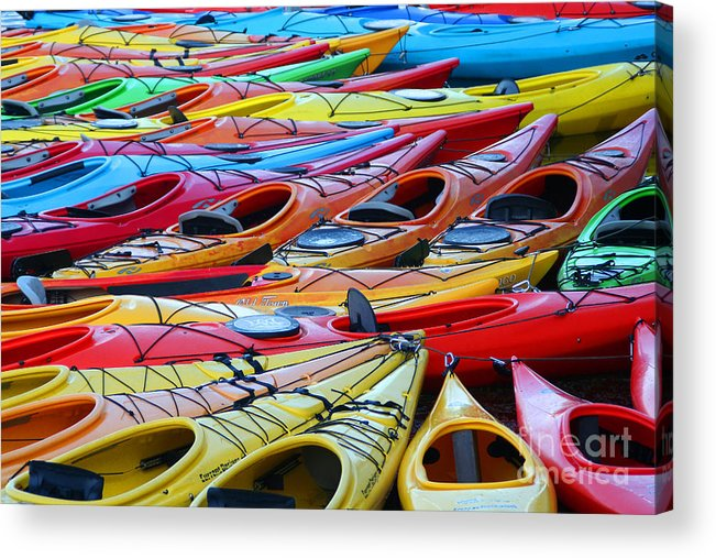 Boat Acrylic Print featuring the photograph Color My World by LR Photography