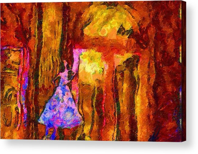 Impressionist Fashion Painting Acrylic Print featuring the painting Fashion 133 by Jacques Silberstein