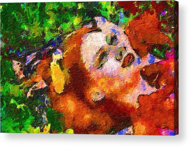 Impressionist Fashion Painting Acrylic Print featuring the painting Fashion 75 by Jacques Silberstein