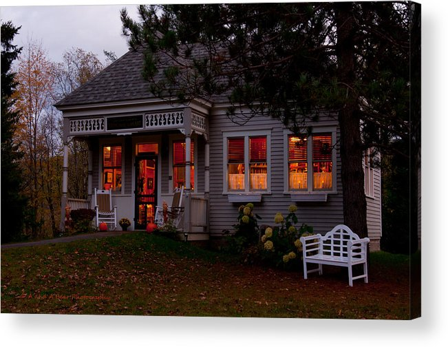 Library Acrylic Print featuring the photograph Gardner Roberts Memorial Library by Andrew Bear