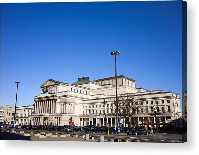 Warsaw Acrylic Print featuring the photograph Grand Theatre In Warsaw by Artur Bogacki