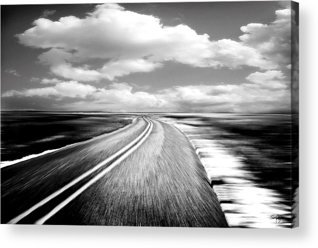 Black & White Acrylic Print featuring the photograph Highway Run by Scott Pellegrin