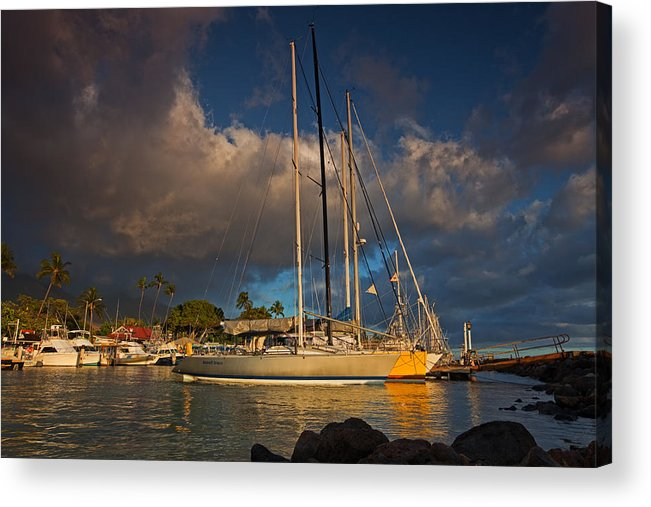 Acrylic Print featuring the photograph Lahaina Harbor by James Roemmling