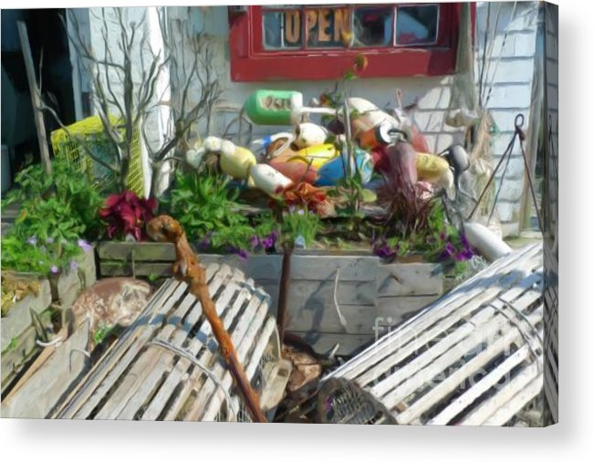 Susan Lipschuz Acrylic Print featuring the digital art Lobster Shack by Susan Lipschutz