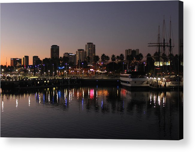 Long Beach Acrylic Print featuring the photograph Long Beach Harbor by Caroline Lomeli