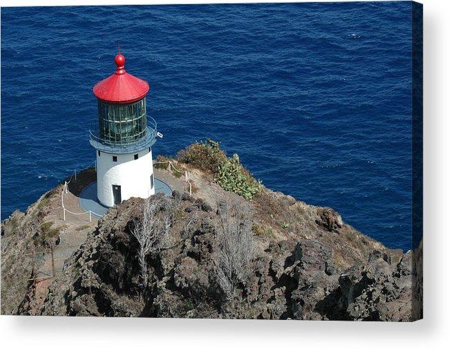 Lighthouse Acrylic Print featuring the photograph Makapu'u Lighthouse by Kathy Schumann