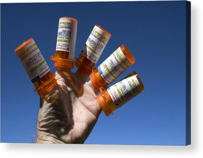 Medicine Acrylic Print featuring the photograph Mediscare by Carl Purcell