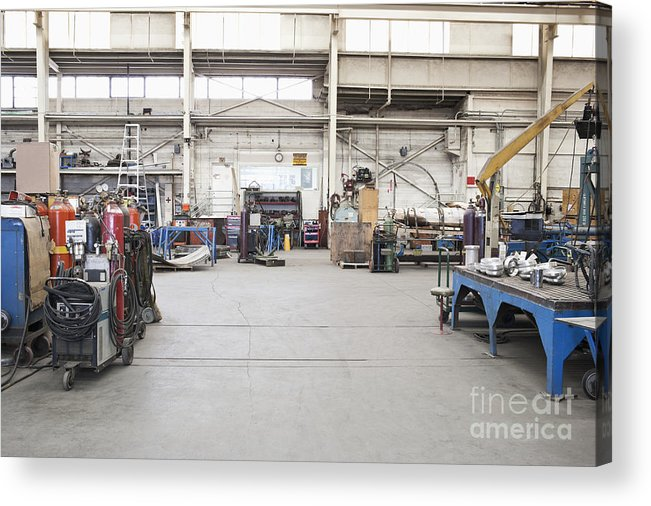 Metal Fabrication Shop Interior Acrylic Print