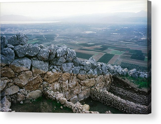 Bronze-age Fortification Acrylic Print featuring the photograph Midea by Andonis Katanos