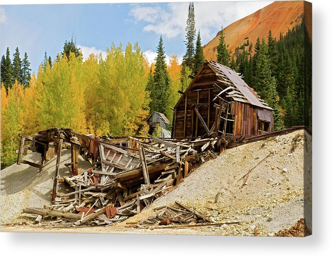 Colorado Acrylic Print featuring the photograph Mining Ruins by Steve Stuller