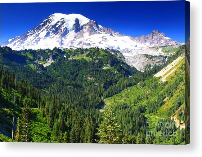 Mountain Acrylic Print featuring the photograph Mount Rainier by Angela Q