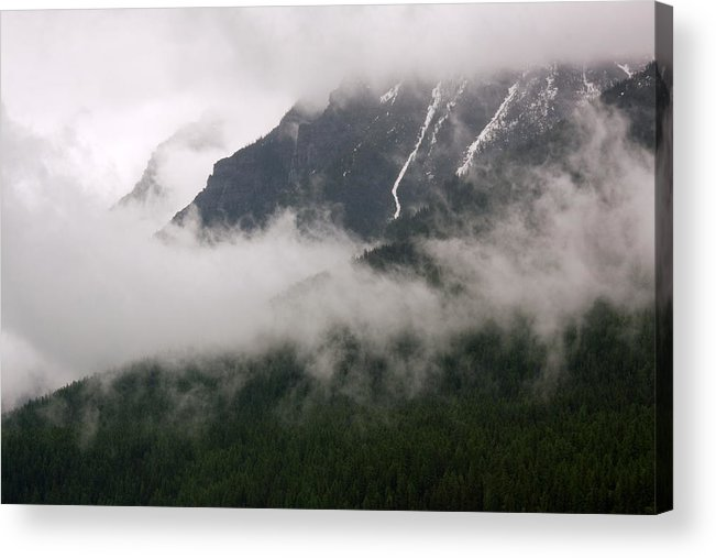 Landscape Acrylic Print featuring the photograph Mountains And Clouds by Amanda Kiplinger