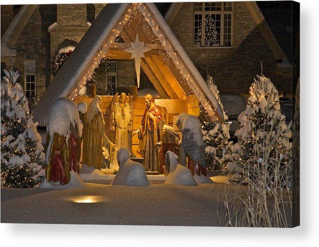 Jesus Birth Acrylic Print featuring the photograph Nativity by Robert Joseph