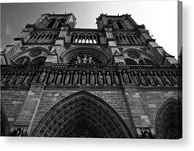 Notre Dame Acrylic Print featuring the photograph Notre Dame by Gabriel Cusmir