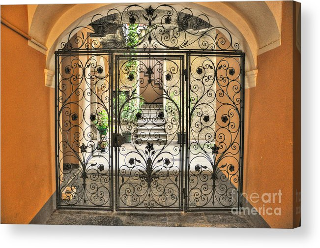 Gate Acrylic Print featuring the photograph Old Gate by Mats Silvan