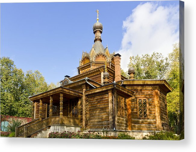 Wooden Acrylic Print featuring the photograph Old Wooden Russian Orthodox Church by Aleksandr Volkov