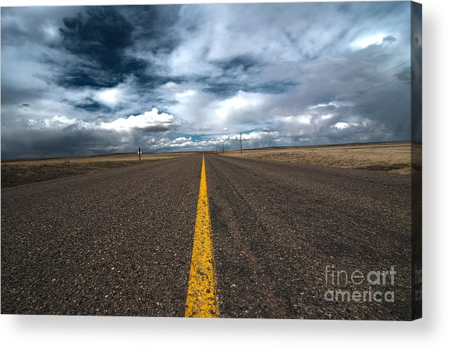 Scenic Drive Acrylic Print featuring the photograph Open Highway by Arjuna Kodisinghe