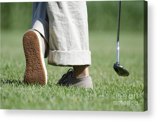 Golf. Sport Acrylic Print featuring the photograph Playing Golf by Mats Silvan