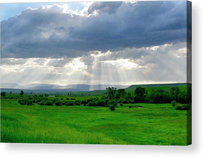 Americas Acrylic Print featuring the photograph Rain Sun Rays by Roderick Bley