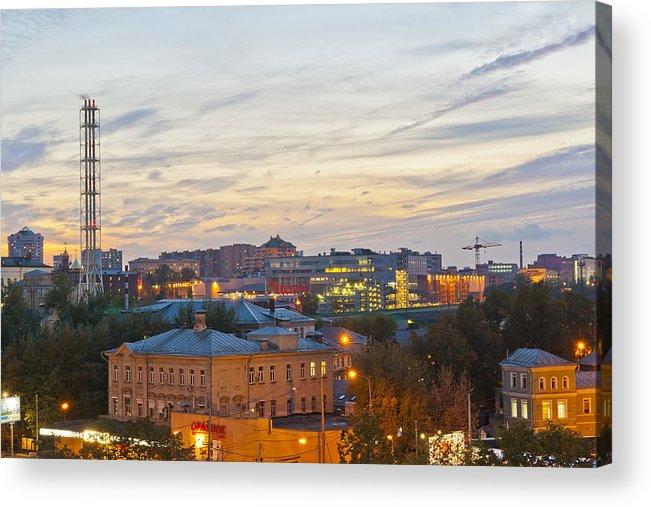 Russian Acrylic Print featuring the photograph Russian City Night by Aleksandr Volkov