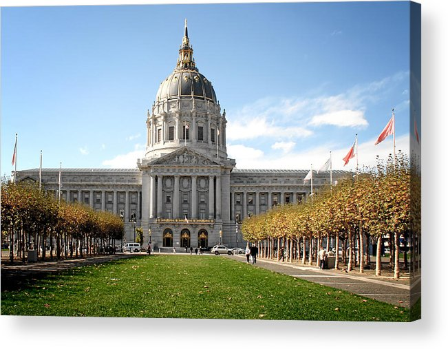Civic Acrylic Print featuring the photograph San Francisco City Hall - Beaux Arts At Its Best by Christine Till