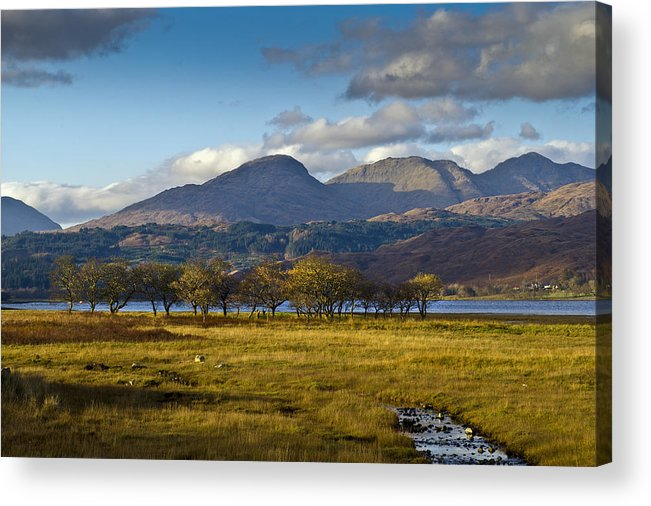Aodann Chleireig Acrylic Print featuring the photograph Scottish Landscape View by Gary Eason