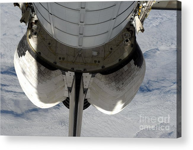Orbiter Acrylic Print featuring the photograph The Aft Portion Of The Space Shuttle by Stocktrek Images