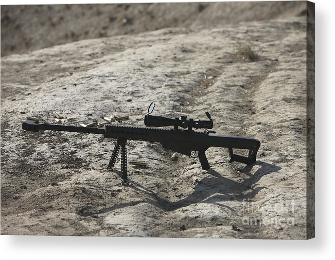 Afghanistan Acrylic Print featuring the photograph The Barrett M82a1 Sniper Rifle by Terry Moore