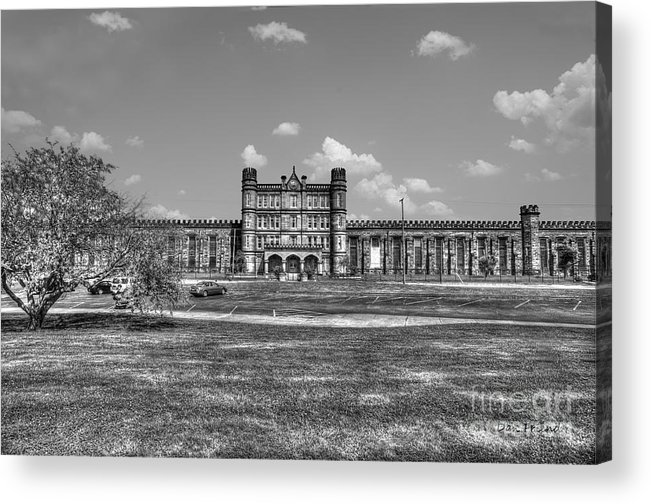 West Virginia State Penitentiary Acrylic Print featuring the photograph The West Virginia State Penitentiary Front by Dan Friend