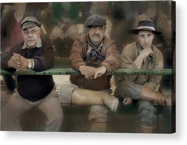 People Acrylic Print featuring the photograph Three Gauchos by Paul Jaffe