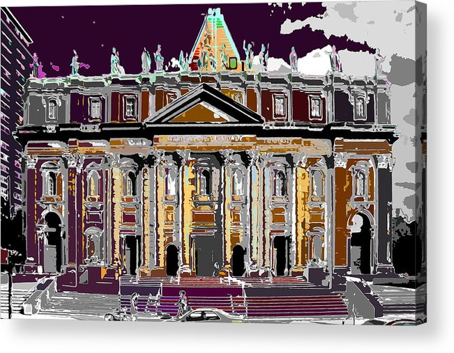 Church Acrylic Print featuring the photograph Tourist Magnet by Burney Lieberman
