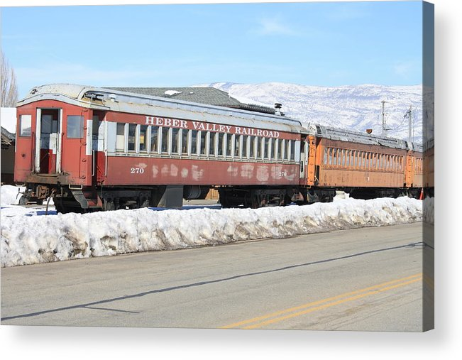 Heber Valley Acrylic Print featuring the photograph Train by Tesia Balls