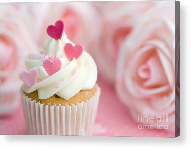Cupcake Acrylic Print featuring the photograph Valentine Cupcake by Ruth Black