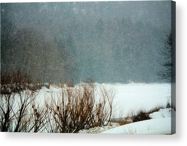 Snow Acrylic Print featuring the photograph Winter Stream by Darlene Bell