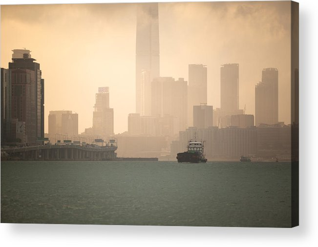 Hong Kong Acrylic Print featuring the photograph Hong Kong Harbour View by Kam Chuen Dung